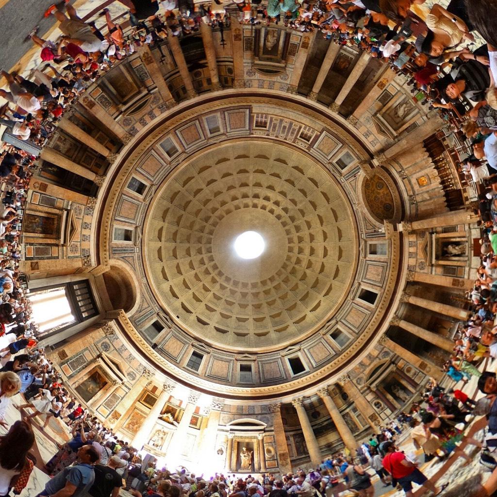 360-graden-foto-in-het-Pantheon-1