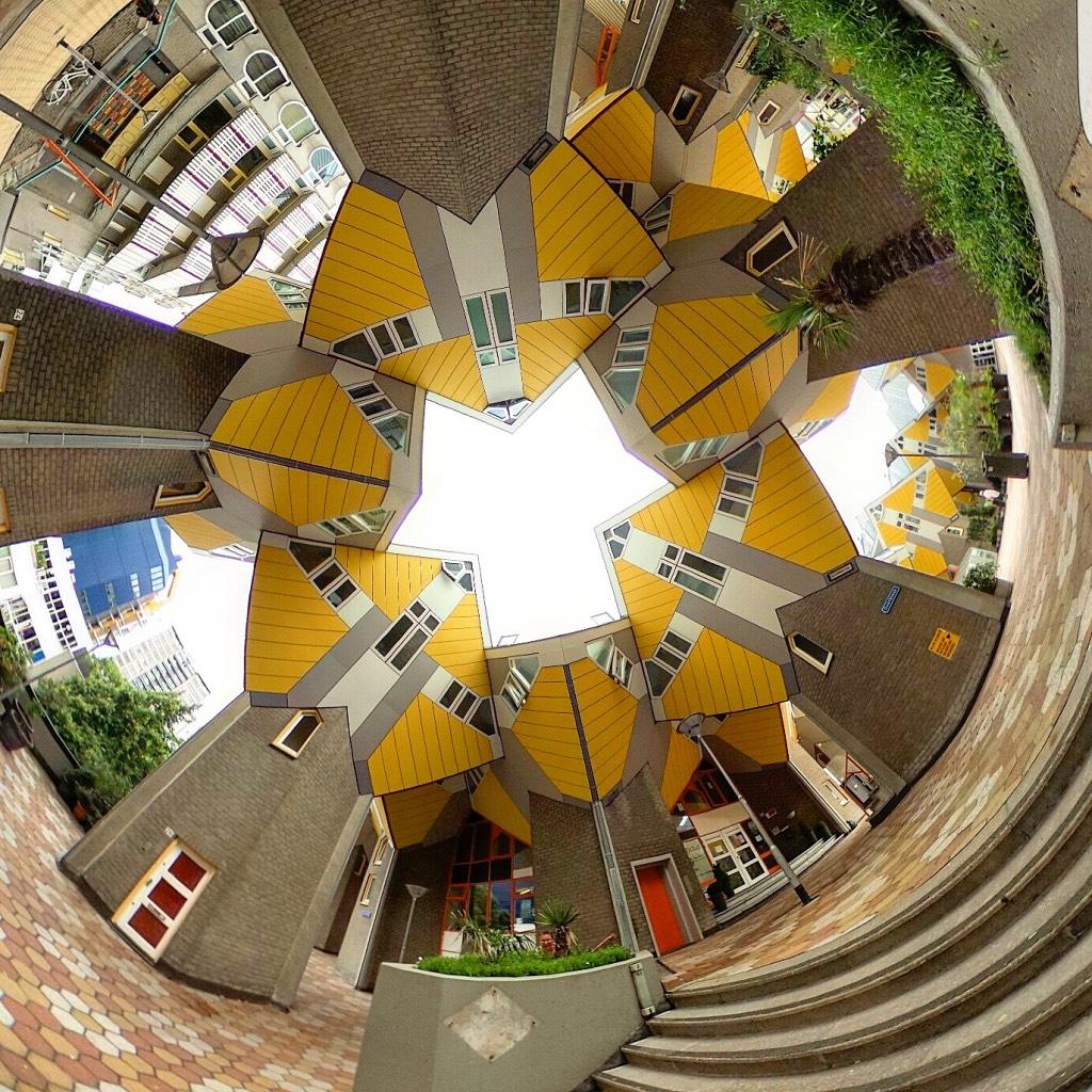 360-graden-foto-van-kubuswoningen-in-Rotterdam