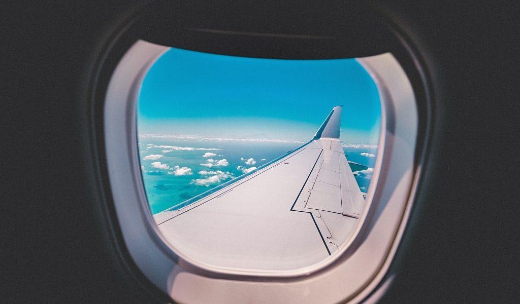 uitzicht uit het vliegtuig
