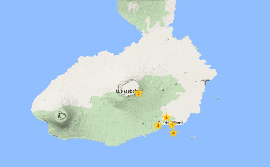 kaart van isla isabela