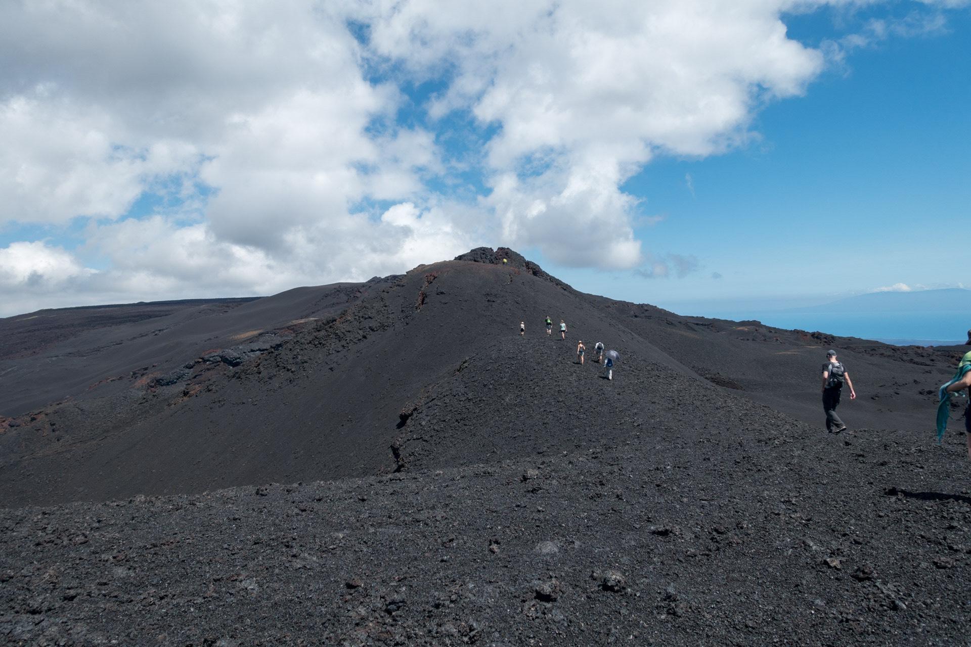 surfen op een vulkaan