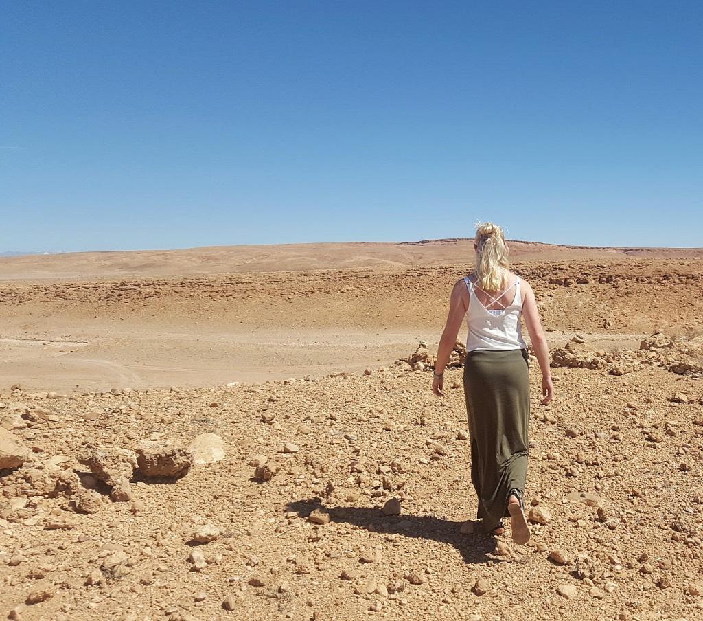slapen in de woestijn in Marokko