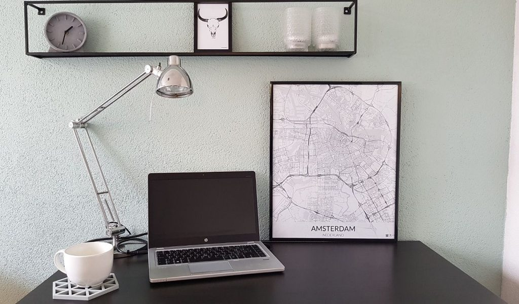 Place to map poster van Amsterdam