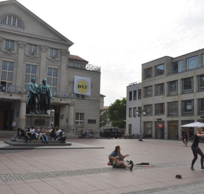 Plein nationaal theater Weimar