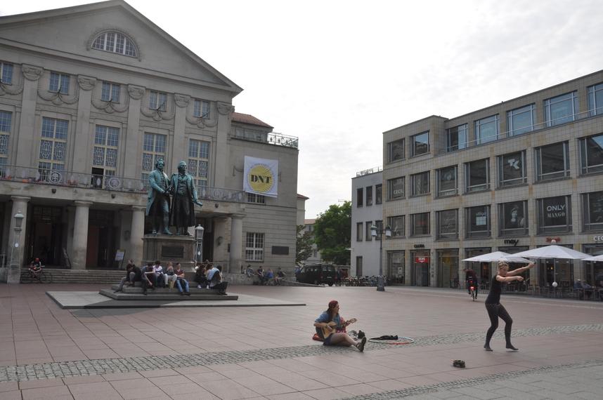 Plein nationaal theater Weimar