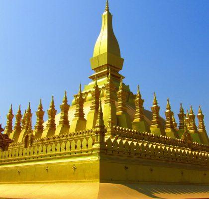 redenen om Laos te bezoeken gouden tempel Vientiane