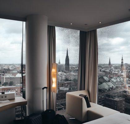 Hotel kamer uitzicht