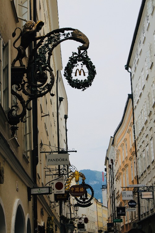 Salzburg Getreidengasse Mcdonalds