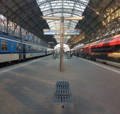 Trein station Tsjechië