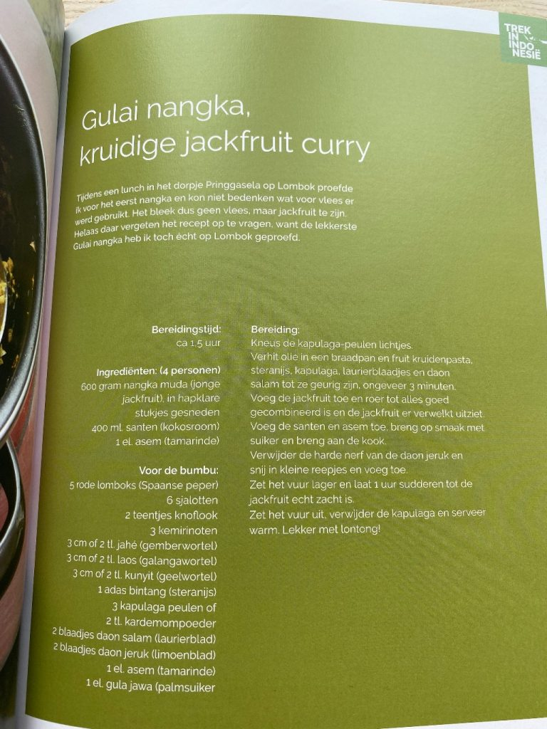 Trek in Indonesië-recept gulai nangka