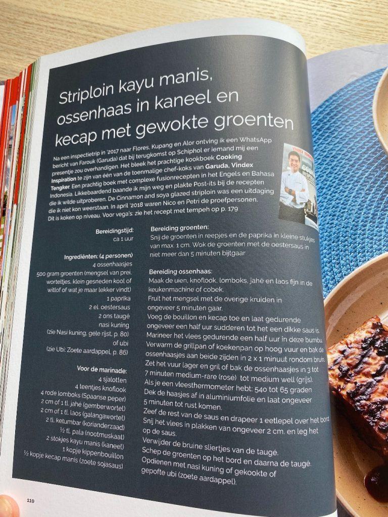 Trek in Indonesië-recept striploin kayu